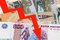Stock Image : Rouble - a Russian currency FALLING