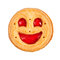 Stock Image : Round cookie with smile isolated