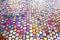 Stock Image : Round glass mosaic tile