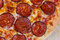 Stock Image : Round hot pizza close up top view