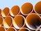 Stock Image : Round iron pipes