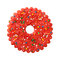 Stock Image : Round Red Christmas Cookie