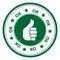Round Thumbs Up OK icon or symbol