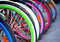 Stock Image : Bike tires detail