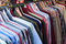 Stock Image : Row of colorful row shirts