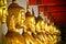 Stock Image : Row of Golden Budda Statues
