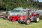 Stock Image : The row of old tractors