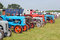 Stock Image : Row of old tractors at a show.