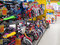 Stock Image : Rows of childrens bikes in a toy store.