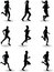 Stock Image : Runner silhouette