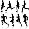 Stock Image : Runners on sprint, men