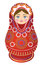 Stock Image : Russian Doll red