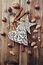 Rustic christmas decorations and ingredients for a