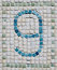 Stock Image : Rustic Number Nine Mosaic