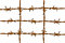 Stock Image : Rusty barbed