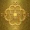 Stock Image : Rusty golden metal 3d ornament