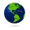 Stock Image : Sad earth icon