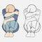 Stock Image : Sad girl, crying