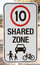 Stock Image : Safety sign for shared zone