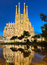 Stock Image : Sagrada Familia at night, Barcelona
