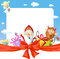 Saint nicholas frame - funny vector background