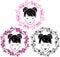 Stock Image : Sakura wreath and asian girl portrait