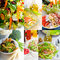 Stock Image : Salad collage composition nested on frame