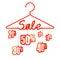 Stock Image : Sale hanger.