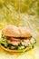 Stock Image : Salmon burger
