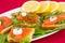 Stock Image : Salmon sandwiches