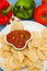 Stock Image : Salsa and chips