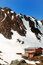 Stock Image : Salvamont Mountain rescue team caban