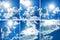 Stock Image : Blauer Himmel der Sammlung mit starken Wolken