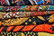 Stock Image : Samples of colorful carpet fabric