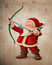 Stock Image : Santa Claus archer