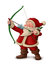 Stock Image : Santa Claus archer - White background