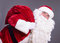 Stock Image : Santa Claus with a bag