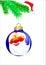Stock Image : Santa claus on  christmas ball