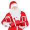 Stock Image : Santa Claus with gifts