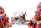 Stock Image : Santa Claus with his reindeer and gifts