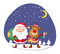 Stock Image : Santa Claus and Rudolph