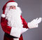 Stock Image : Santa Claus shows gesture