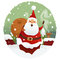 Stock Image : Santa with gifts