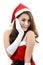 Stock Image : Santa girl 1
