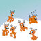 Stock Image : Santa's reindeer cute illustration