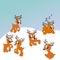Stock Image : Santa's reindeer cute illustration