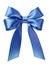 Stock Image : Satin blue ribbon bow