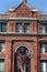 Stock Image : Savannah Cotton Exchange & Lion Fountain