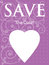 Stock Image : Purple Save The Date Announcement