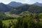 Stock Image : Savinja river and  Lasko valley under the medieval Celje castle in Slovenia